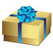 Oro de la caja de regalo Imagen de archivo libre de regalías