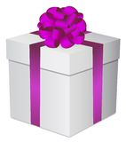 Oro de la caja de regalo Foto de archivo libre de regalías