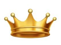 Oro de la corona del rey del vector stock de ilustración