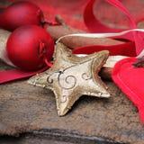 Oro de la estrella de la Navidad Foto de archivo libre de regalías