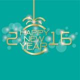 Oro de la Feliz Año Nuevo en vector azul Imágenes de archivo libres de regalías