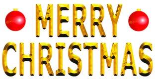 Oro de la Feliz Navidad Foto de archivo libre de regalías