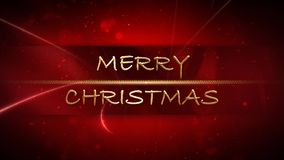 Oro de la Feliz Navidad y lazo rojo 4K stock de ilustración