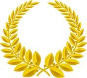 Oro de la guirnalda del laurel (vector) imagen de archivo libre de regalías
