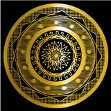 Oro de la mandala Fotografía de archivo libre de regalías