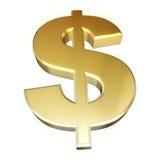 Oro de la muestra de dólar