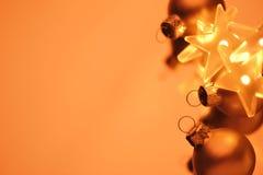 Oro de la Navidad Fotos de archivo