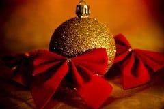 Oro de la Navidad Fotos de archivo libres de regalías
