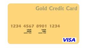 Oro de la tarjeta de crédito Imagen de archivo libre de regalías
