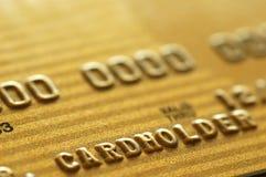 Oro de la tarjeta de crédito Imágenes de archivo libres de regalías