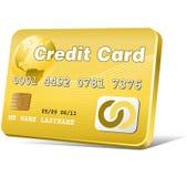 Oro de la tarjeta de crédito Fotos de archivo