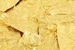 Oro de las envolturas del chocolate Imagenes de archivo