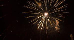 Oro de los fuegos artificiales Año Nuevo metrajes