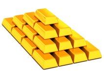 Oro de los lingotes Imagen de archivo libre de regalías