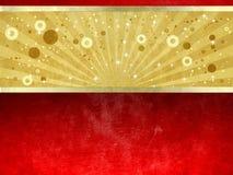 Oro de lujo y fondo rojo del grunge stock de ilustración