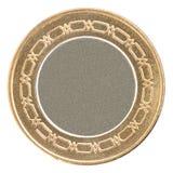 Oro de moneda vacío Fotos de archivo libres de regalías