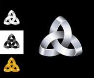 Oro de plata negro blanco del logotipo de la plantilla abstracta del diseño Foto de archivo