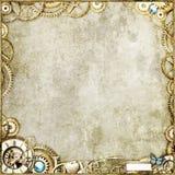 Oro de Steampunk Imágenes de archivo libres de regalías