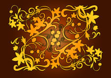 Oro decorativo dell'elemento Immagine Stock Libera da Diritti