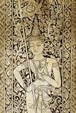 Oro decorativo y adorno negro de Buda imagenes de archivo
