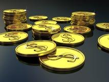 Oro dei soldi Immagini Stock