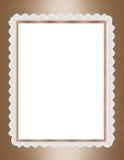 Oro del blocco per grafici del bordo del merletto e del raso Immagine Stock
