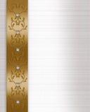 Oro del bordo dell'invito di cerimonia nuziale Fotografie Stock