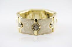 Oro del braccialetto Immagini Stock