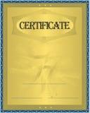 Oro del certificado Imagen de archivo libre de regalías