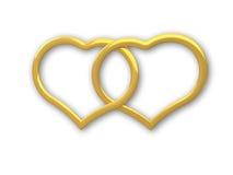 Oro del corazón Fotos de archivo libres de regalías