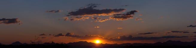 Oro del cristal de la puesta del sol Fotografía de archivo