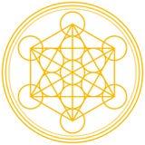 Oro del cubo de Metatron Fotos de archivo libres de regalías
