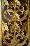 Oro del detalle y adorno marrón de la flor Fotografía de archivo libre de regalías