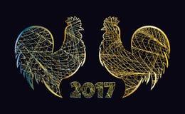 Oro del gallo Immagine Stock