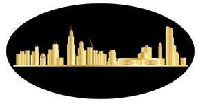 Oro del horizonte de Chicago libre illustration
