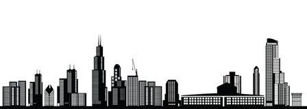 Oro del horizonte de Chicago ilustración del vector
