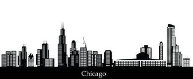 Oro del horizonte de Chicago stock de ilustración