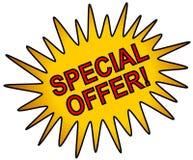 Oro del icono del Web de la oferta especial Fotos de archivo libres de regalías