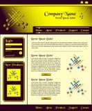 Oro del marrón del diseño del modelo del Web site Imagen de archivo libre de regalías
