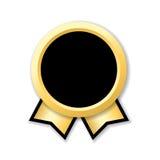 Oro del nastro del premio Fotografia Stock