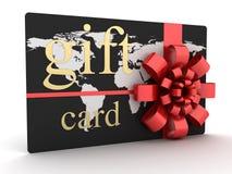 Oro del negro de la tarjeta del regalo stock de ilustración