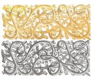 Oro del ornamento ilustración del vector