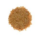 Oro del seme di lino Fotografia Stock