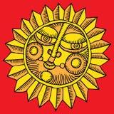 Oro del sole del fiore Fotografia Stock Libera da Diritti