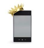 Oro del telefono mobile sviluppato Fotografie Stock Libere da Diritti