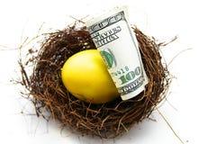 Oro dell'uovo di nido Fotografia Stock Libera da Diritti