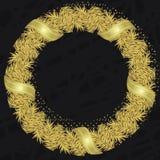 Oro della cartolina di Natale Immagine Stock Libera da Diritti