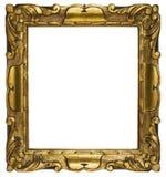 Oro della cornice cubico (percorso incluso) Fotografie Stock Libere da Diritti
