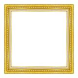 Oro della cornice isolato su un fondo bianco Fotografia Stock