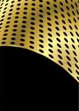Oro della curvatura del metallo illustrazione di stock